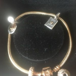 Authentic brand new with recipes pandora 14k gold